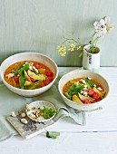 Bean and potato curry with cashew nuts