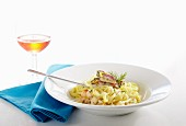 Tagliatelle with fish and seafood