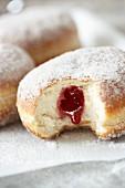Jam doughnuts (close-up)
