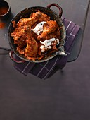 Pepper chicken with yoghurt