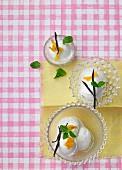 Lemon sorbet with vanilla pods
