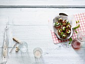 Courgette roles with ham (low carb)