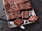 Espresso brownies with dark chocolate