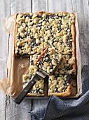 Tray bake poppyseed crumble cake