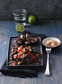 Ginger, lime and beef stew with aubergines