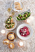 A four-course, vegetarian Christmas meal