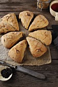 Scones with dried cranberries and cinnamon