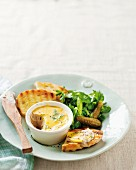 Mackerel pâté with grilled bread and a herb salad