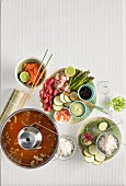 Japanese meat and fish fondue