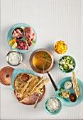 Indian meat fondue