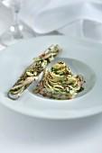 Razor clams with chilli spaghetti