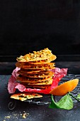 Spiced mandarin thins with pistachios and anise
