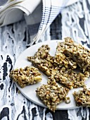 Homemade nut bars