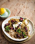 Lentils and beetroot salad