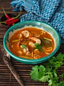 Tom Yam (spicy-sour soup, Thailand)
