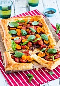 Tomato tart with fresh basil