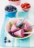 Berry ice cream sticks