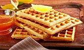 Waffles with orange syrup (Arabia)