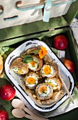 Scotch eggs in a picnic case