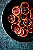 Caramelised blood orange slices