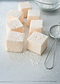 Marshmallows with icing sugar