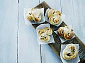 Sweet pretzels made from wheat dough