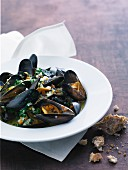 Mussels in vegetable stock