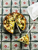 Broccoli quiche with goat's cheese