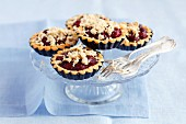 Cherry tartlets with halva