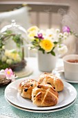 Hot cross buns for an Easter breakfast