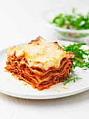Lasagne with a rocket salad