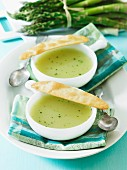 Asparagus soup with herbs