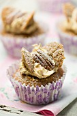 Coffee and pecan nut cupcakes