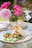 Chicken breast and tomato wraps