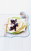 Crêpes with pears and berries