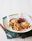 Chicken, leek and bacon pies