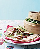 Chinese-style chicken wraps