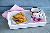 Pumpkin waffles and a cup of tea