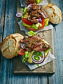 Grilled ox on bread rolls