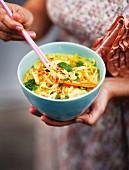 Malaysian laksa (chicken soup)