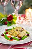 Vegetarian nut roast for Christmas