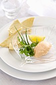 Smoked Salmon Mousse with Melba Toast