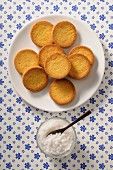 Palet Bretons (shortbread biscuits from Brittany, France)