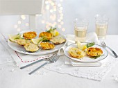 Gratinated mini scallops for Christmas