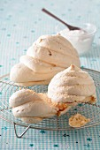 Meringues on a wire rack