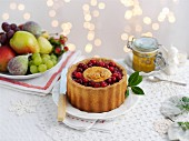 A pork pie with cranberries for Christmas