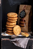 A stack of Snickerdoodle biscuits for Christmas