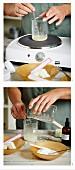 Moringa face cream being made