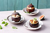 Stuffed almond figs with cream cheese (simple glyx)