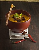 Pumpkin soup with gingerbread